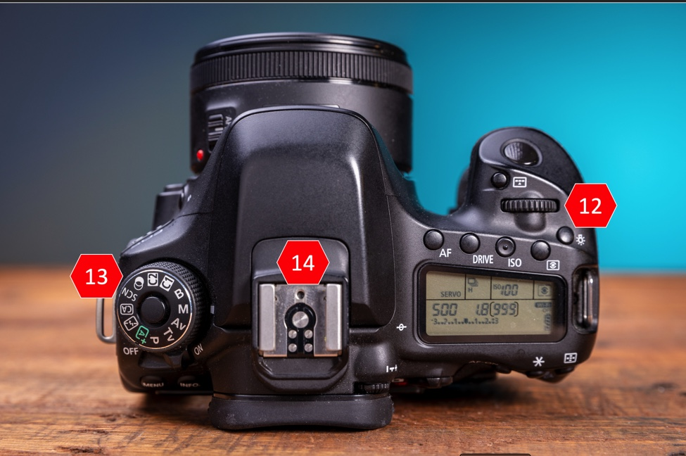 Get to know your Canon Camera by learning what each button and dial does on the top of your camera.